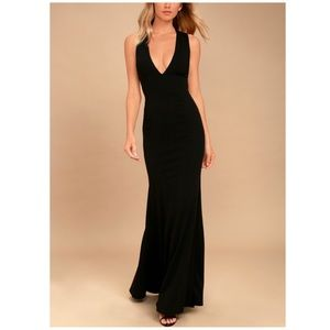 Lulu's Heaven and Earth Black Maxi Dress